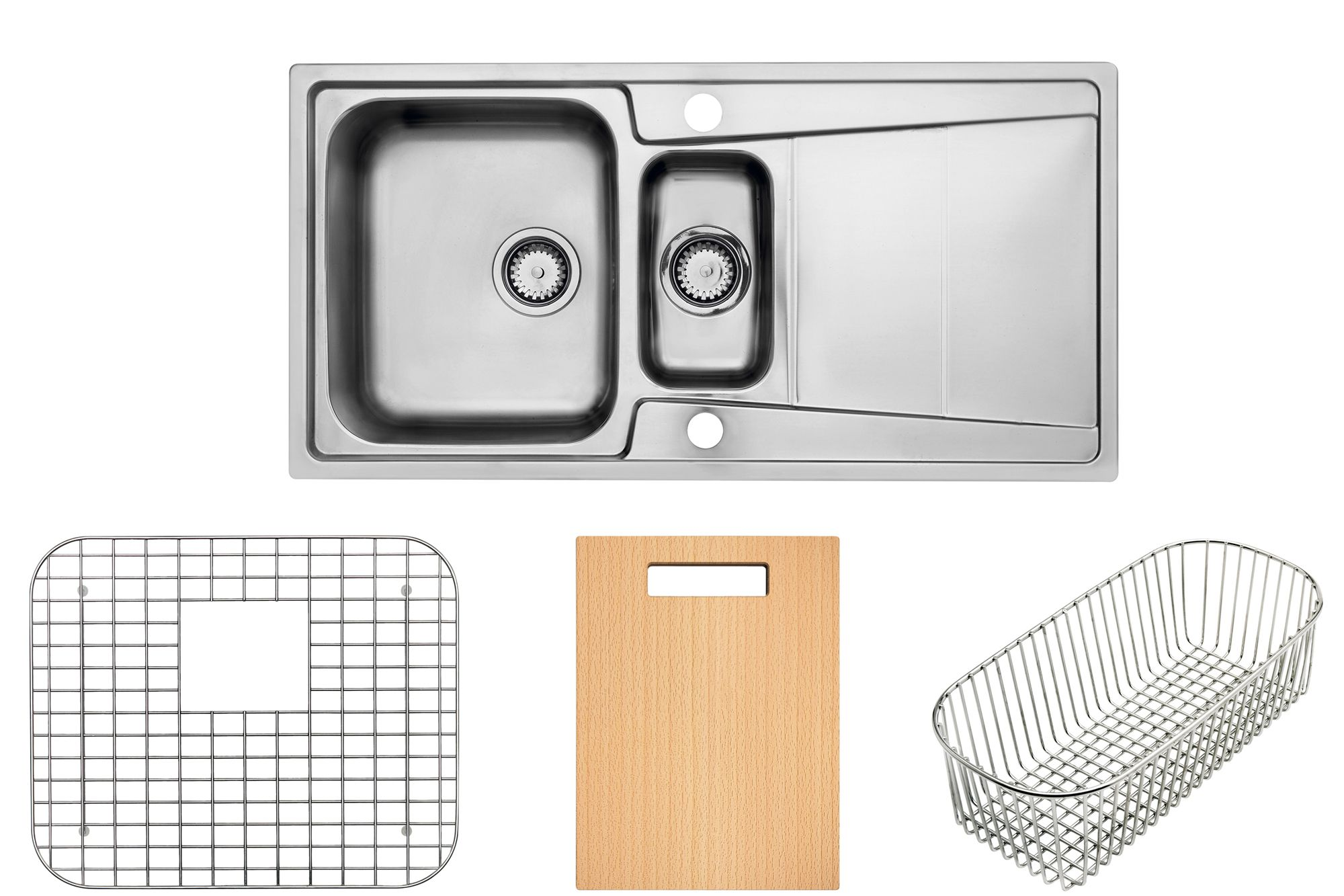 b q kitchen sink accessories cooke amp lewis passo 1 5 bowl polished stainless steel sink 4230