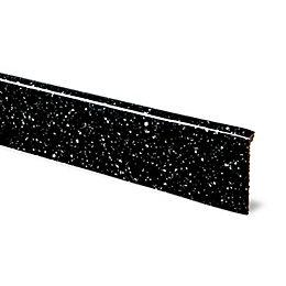 12mm Astral Black Laminate Upstand, Square Edge