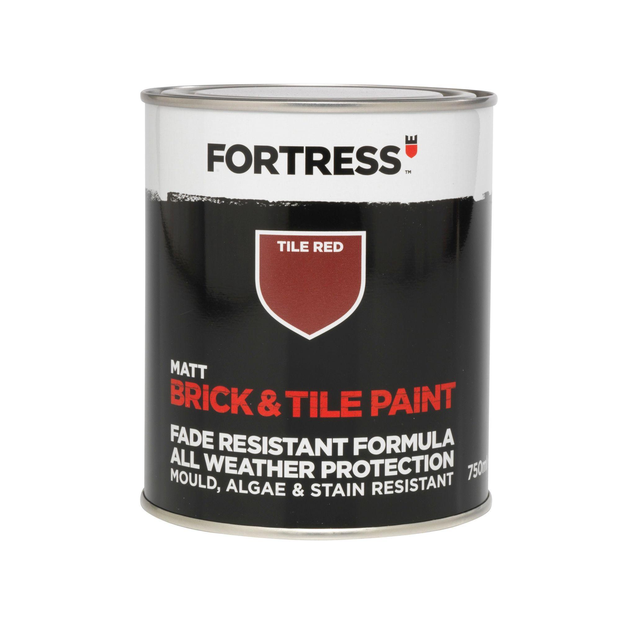 Fortress Tile Red Matt Brick & Tile Paint 750 ml | Departments | DIY ...