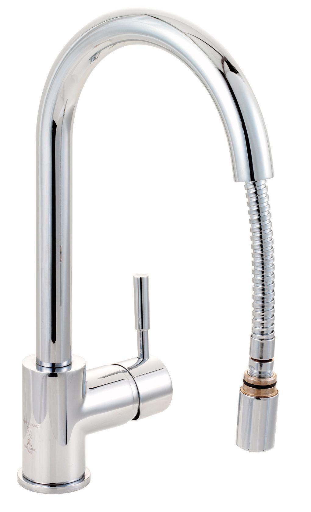 cooke lewis saru chrome effect kitchen pull out tap. Black Bedroom Furniture Sets. Home Design Ideas