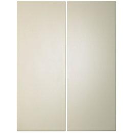 IT Kitchens Santini Gloss Cream Slab Corner wall