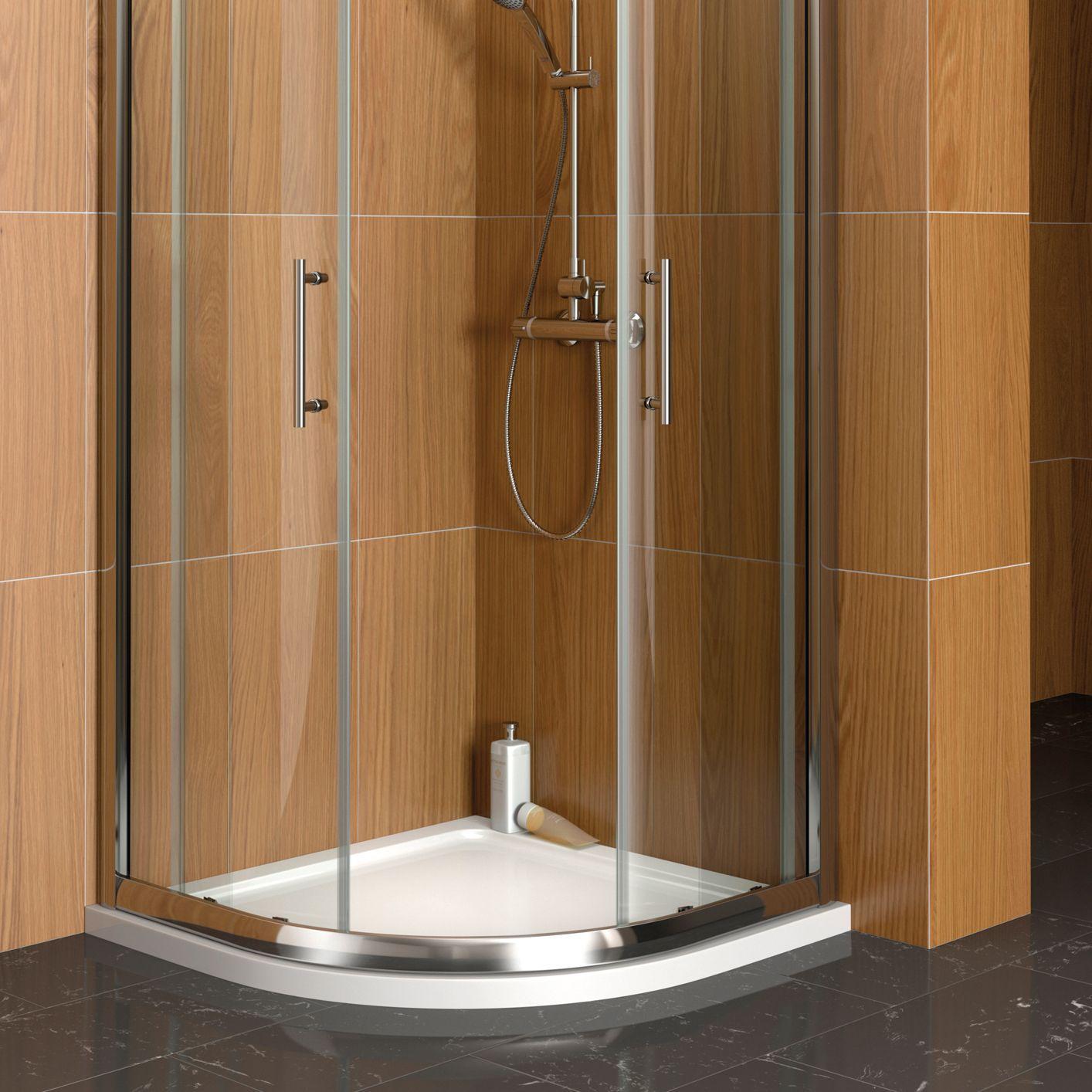 Cooke & Lewis Marina Quadrant Shower Tray (W)900mm (D)900mm ...