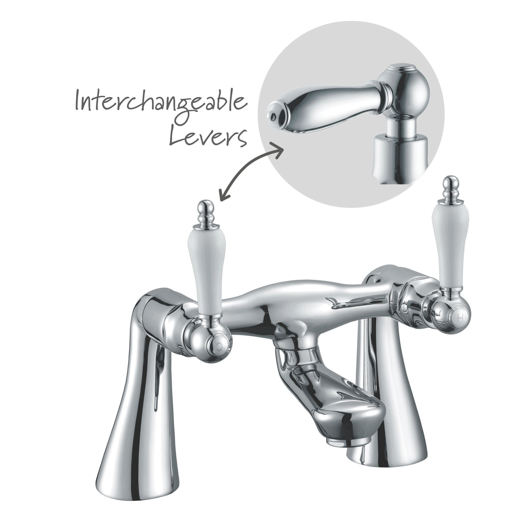 Cooke & Lewis Timeless Chrome Bath Mixer Tap | Departments ...