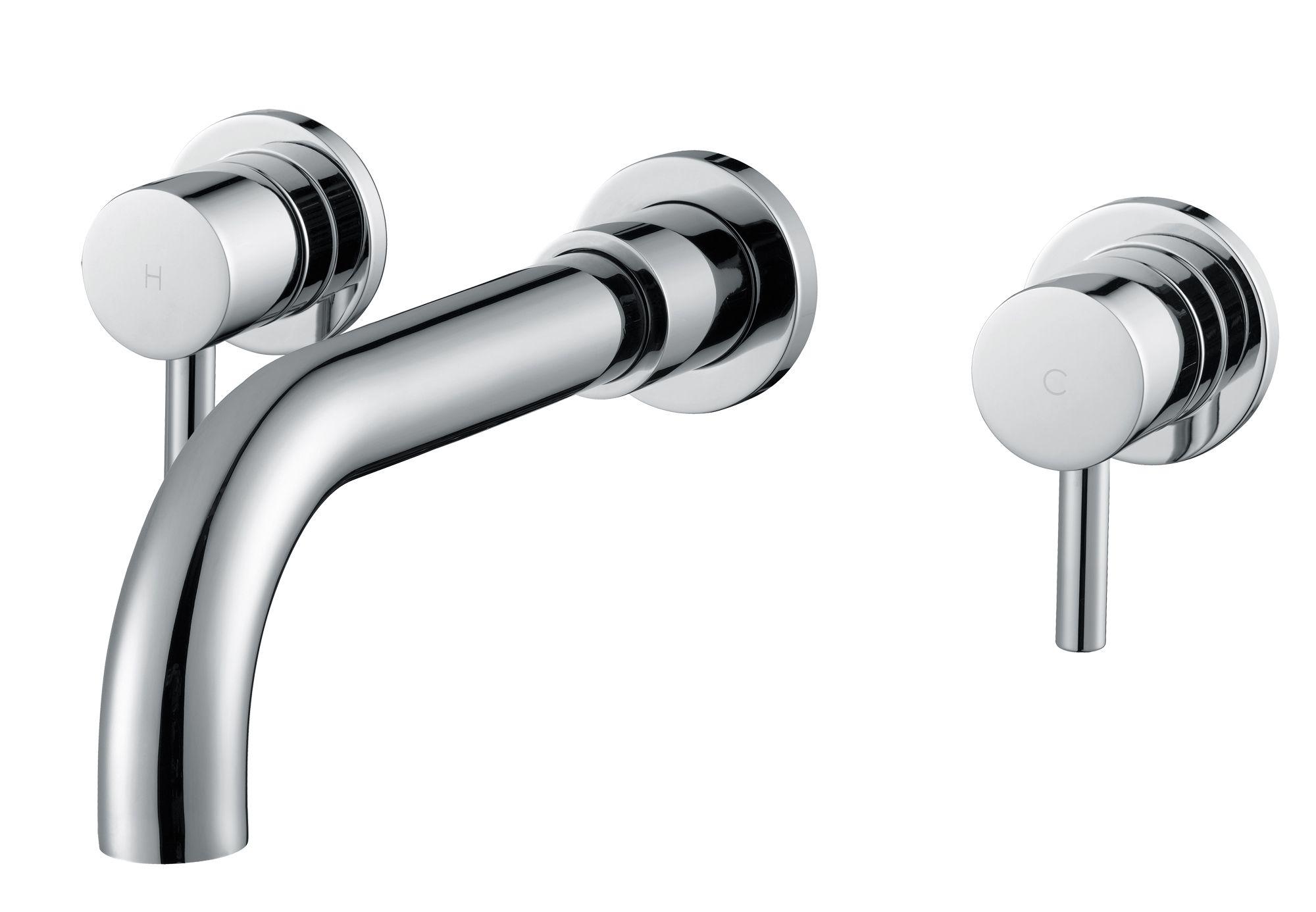 Cooke lewis minima chrome wall mounted bath mixer tap for B q bathroom accessories