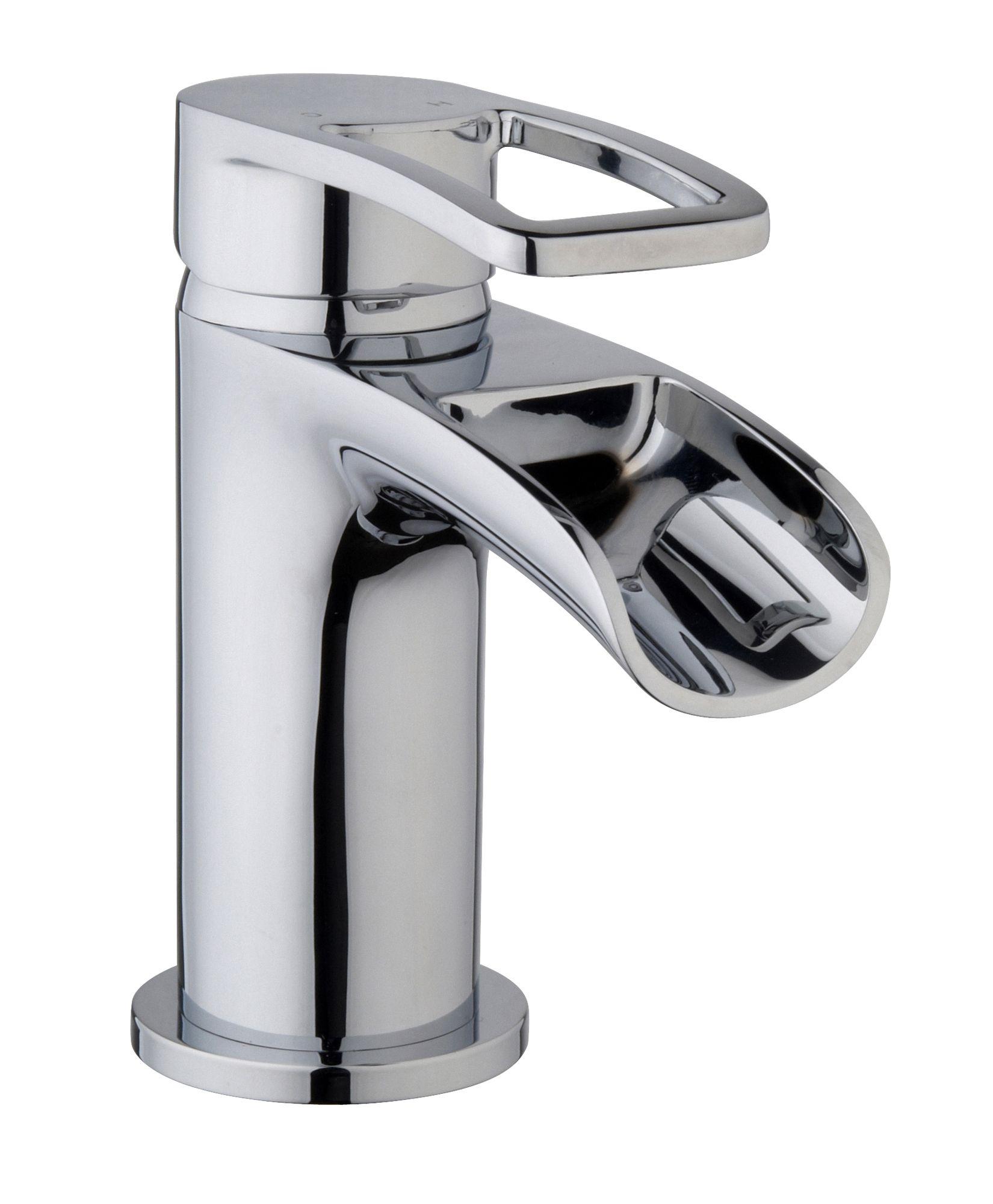 cooke lewis saverne 1 lever basin mixer tap. Black Bedroom Furniture Sets. Home Design Ideas