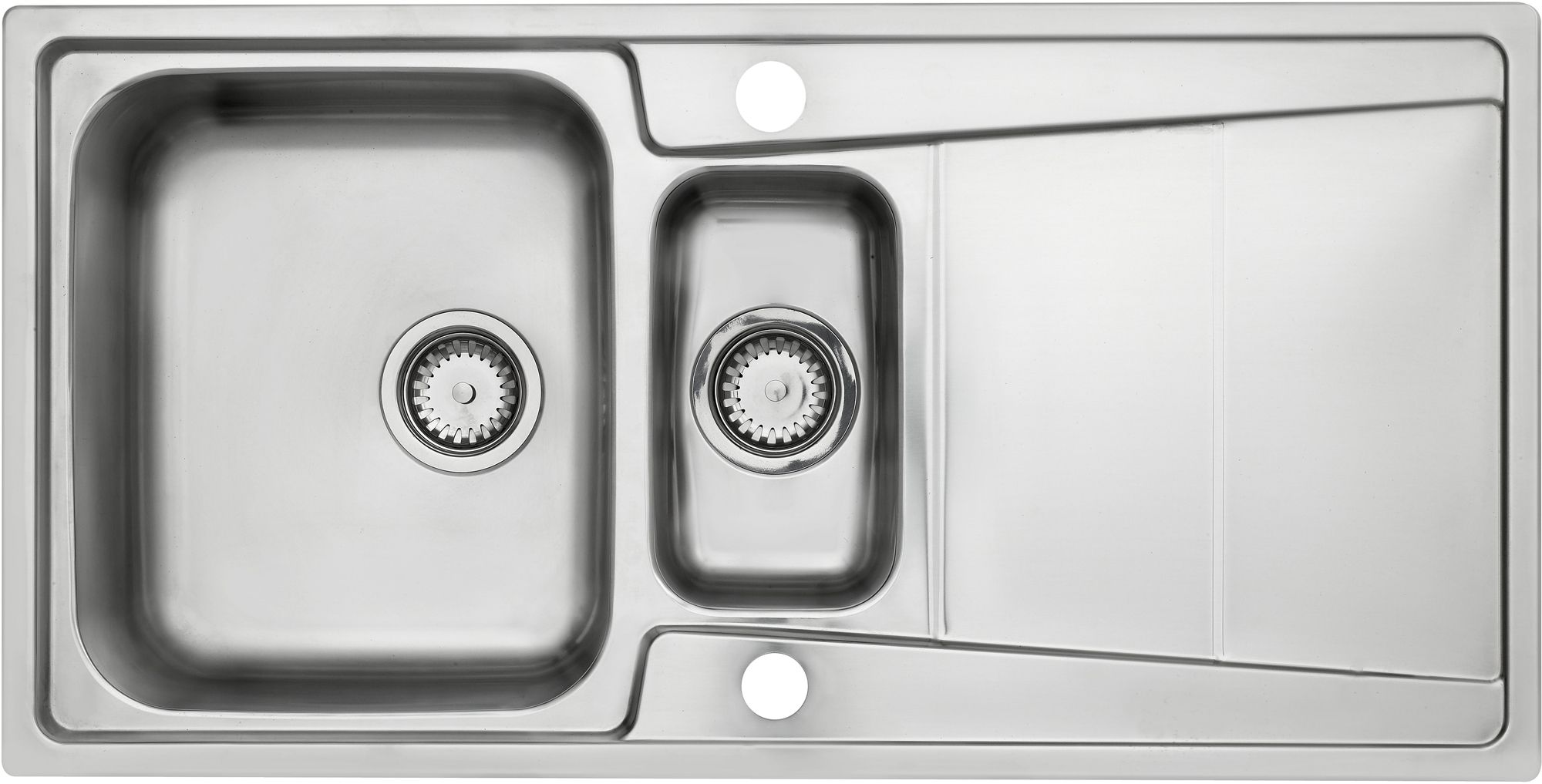 Cooke & Lewis Passo 1.5 Bowl Polished Stainless Steel Sink & Drainer ...