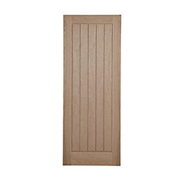 Cottage Panelled Oak Veneer Internal Unglazed Door, (H)1981mm