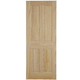 4 Panel Clear Pine Unglazed Internal Fire Door,