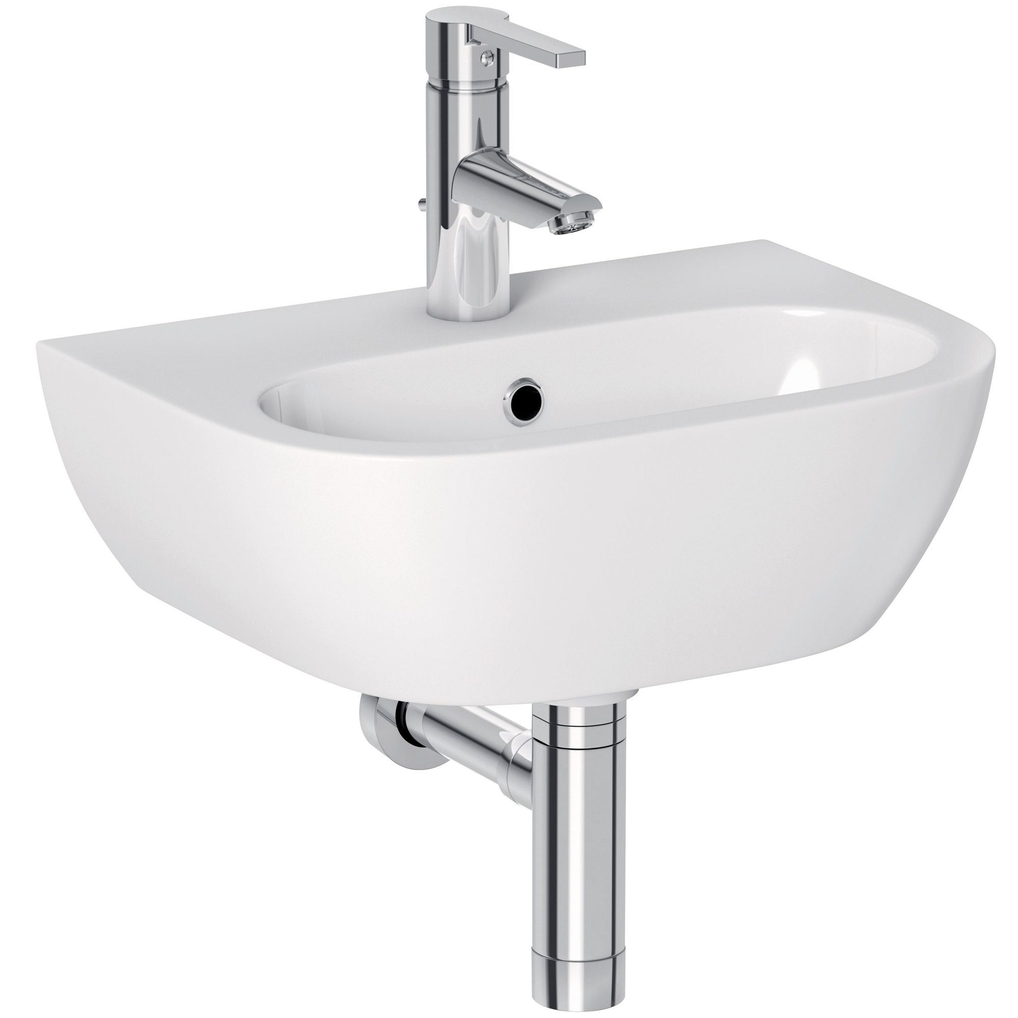Cooke lewis helena wall mounted cloakroom basin B q bathroom design service