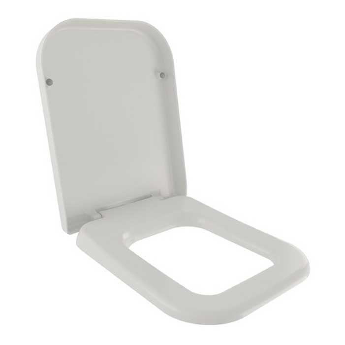 Cooke lewis diagonal white toilet seat departments for B q bathroom accessories