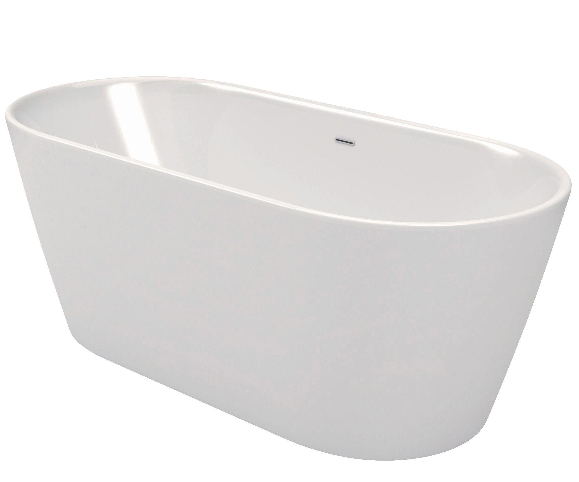 Cooke & Lewis Duchess Acrylic Oval Freestanding Bath (L)1580mm (W ...