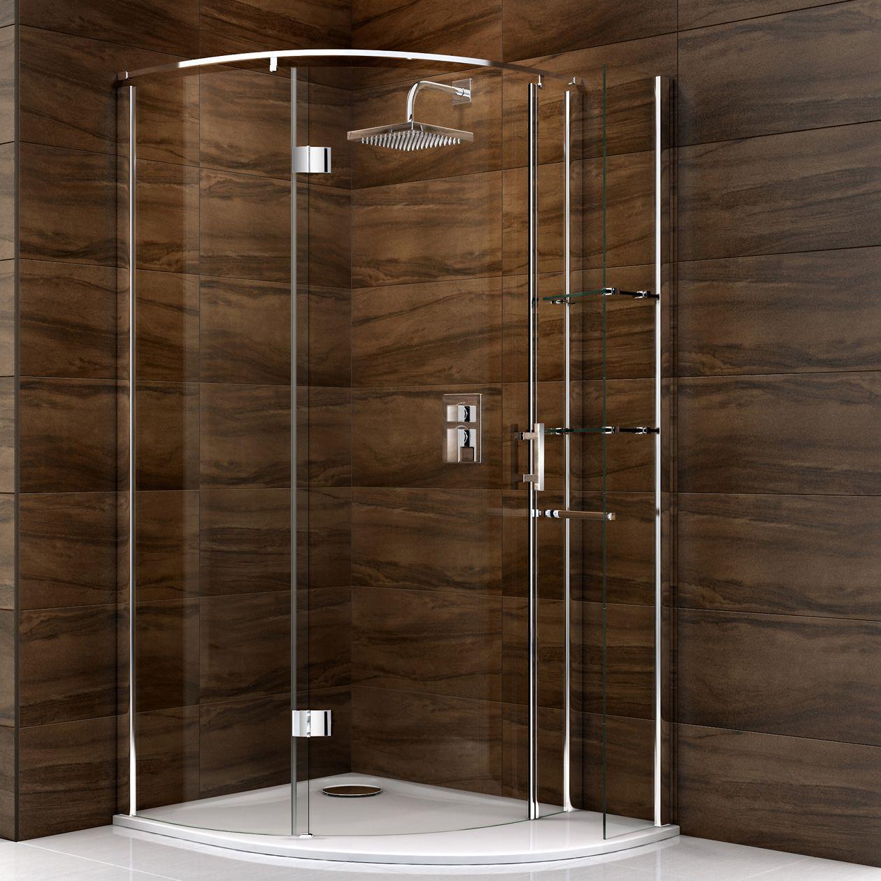 Cooke & Lewis Cascata Offset Quadrant Shower Enclosure, Tray & Waste ...