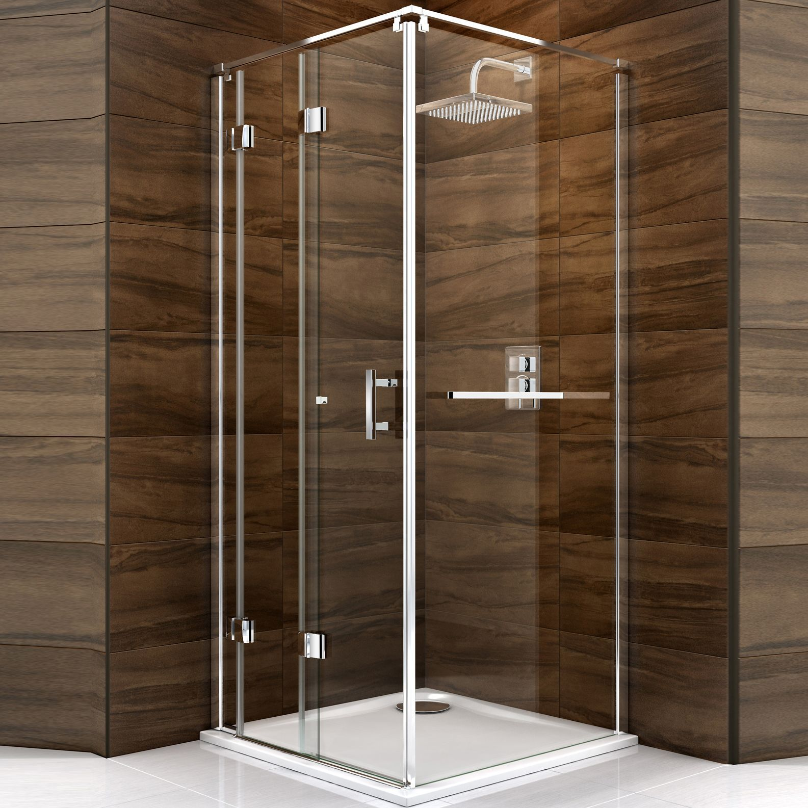 cooke lewis cascata square shower enclosure tray waste pack with bi fold door w 760mm d. Black Bedroom Furniture Sets. Home Design Ideas