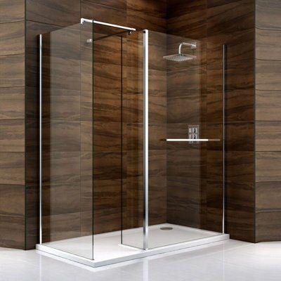 Cooke & Lewis Cascata Rectangular Shower Enclosure, Tray & Waste ...