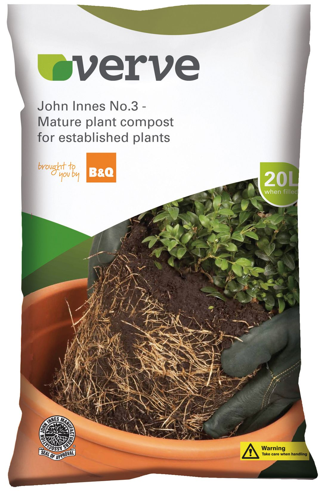 verve john innes no 3 mature plant compost 20l. Black Bedroom Furniture Sets. Home Design Ideas