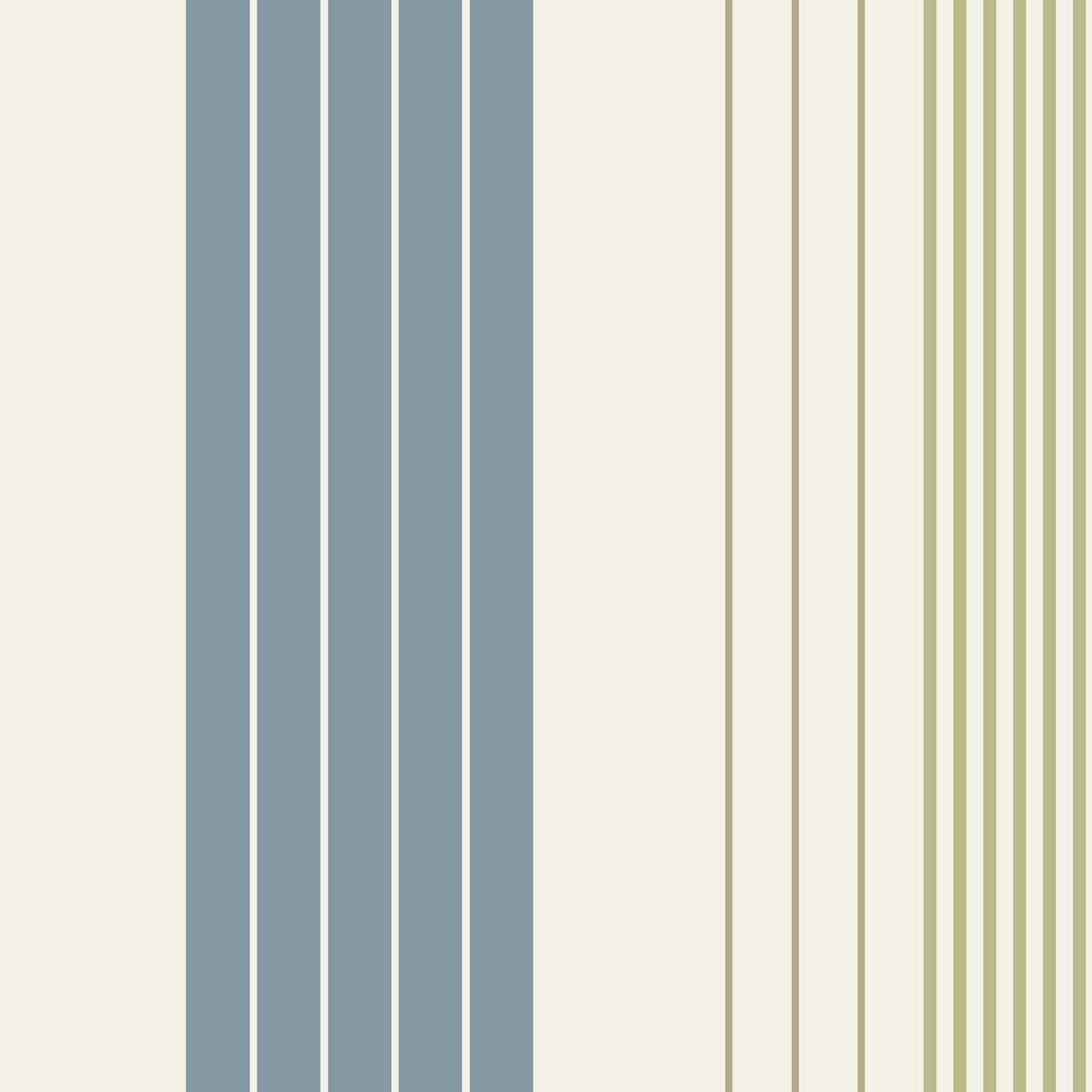 Cream  >> B&Q Rocky Blue, Cream & Green Stripe Wallpaper ...
