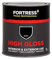 Fortress Trade Black Gloss Multipurpose paint 1L