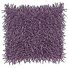 Nigella Shaggy Blueberry Cushion