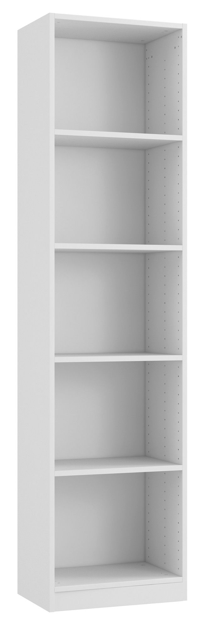 Form Darwin White Gloss 4 Shelf Bookcase H 2004mm W 500mm D 374mm Departments Diy At B Q