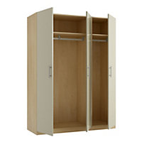 Darwin Taupe Oak effect 3 door Wardrobe (H)2004mm (W)1500mm