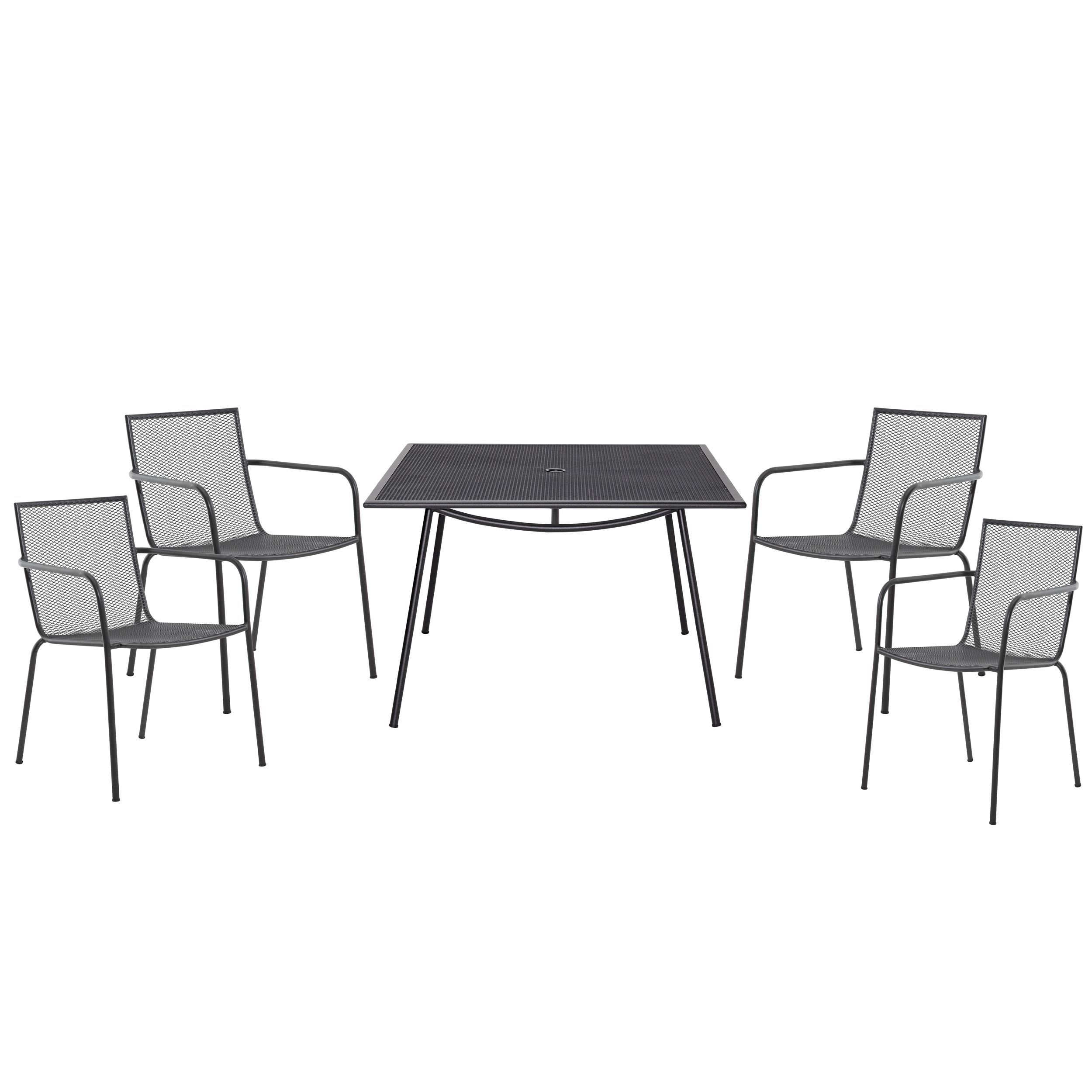 Kitchen Stools Adelaide: Adelaide Metal 4 Seater Dining Set