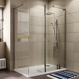 Cooke & Lewis Luxuriant Rectangular Shower Enclosure, Tray