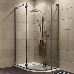 Cooke & Lewis Luxuriant Offset quadrant Shower enclosure,