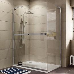 Cooke & Lewis Grandeur Rectangular Shower enclosure, tray