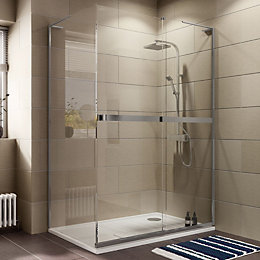 Cooke & Lewis Grandeur Rectangular Shower Enclosure, Tray