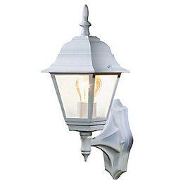 B&Q Penarven White Mains Powered External Wall Lantern
