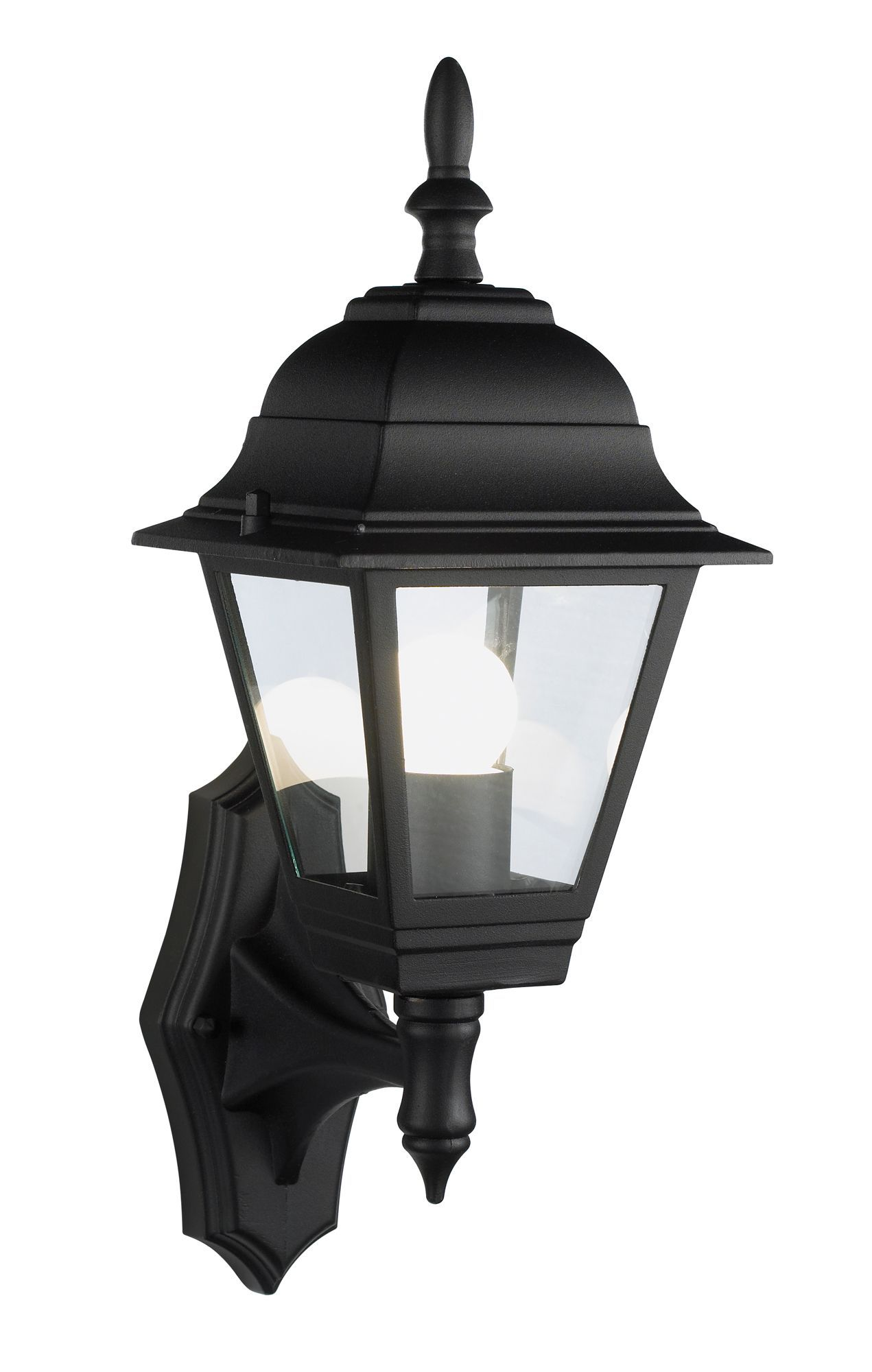 Bq penarven black mains powered external wall lantern bq penarven black mains powered external wall lantern departments diy at bq aloadofball Choice Image