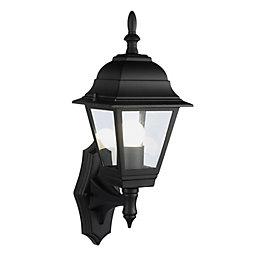 B&Q Penarven Black Mains Powered External Wall Lantern