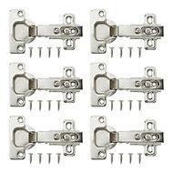 Nickel effect Metal Unsprung Concealed hinge, Pack of 6
