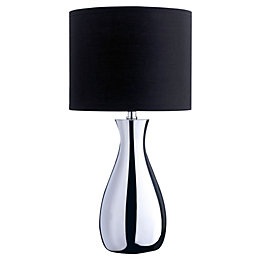 Fiona Black Chrome Effect Table Lamp
