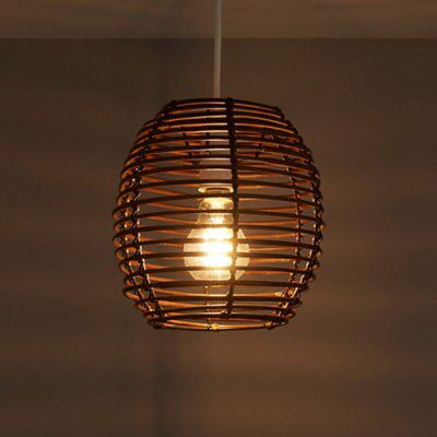 Toulouse Brown Pendant Light Shade (D)202mm
