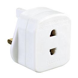 B&Q White 1-Gang 240V 1A Shaver adaptor