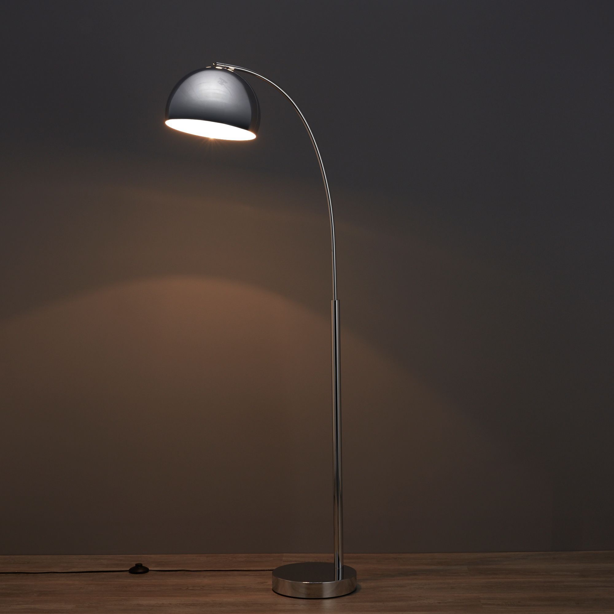 Fresh Chrome effect Floor lamp