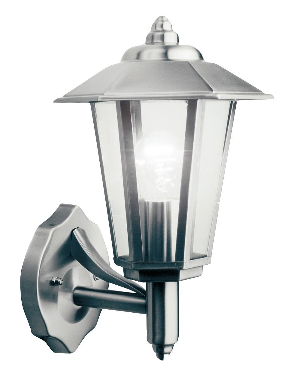 Newport stainless steel mains powered external wall lantern newport stainless steel mains powered external wall lantern departments diy at bq arubaitofo Images