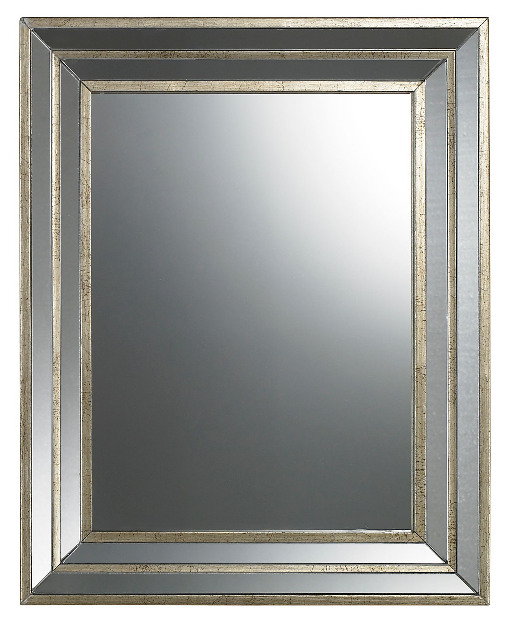 Colours Metallic Effect Framed Rectangular Mirror W 400mm Departments Diy At B Q
