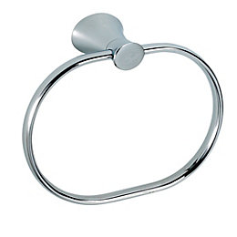 B&Q Infinity Chrome Effect Towel Ring, (W)191mm
