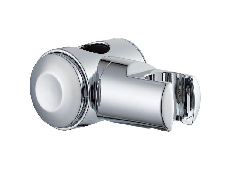 B&Q Silver Chrome Effect Shower Head Holder with Riser Rail ...