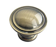 B&Q Polished Gold effect Round Internal Knob Cabinet knob (D)34.3 mm