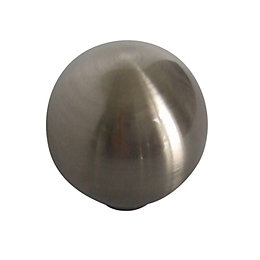 B&Q Satin Nickel Effect Round Internal Knob Cabinet