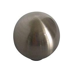 B&Q Satin Nickel Effect Round Internal Knob Cabinet