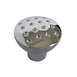 B&Q Chrome Effect Round Internal Knob Furniture Knob
