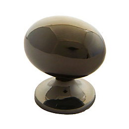 B&Q Polished Gold Effect Oval Internal Knob Cabinet