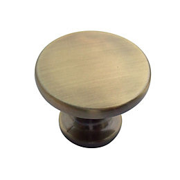 B&Q Brushed Gold effect Round Internal Knob Cabinet