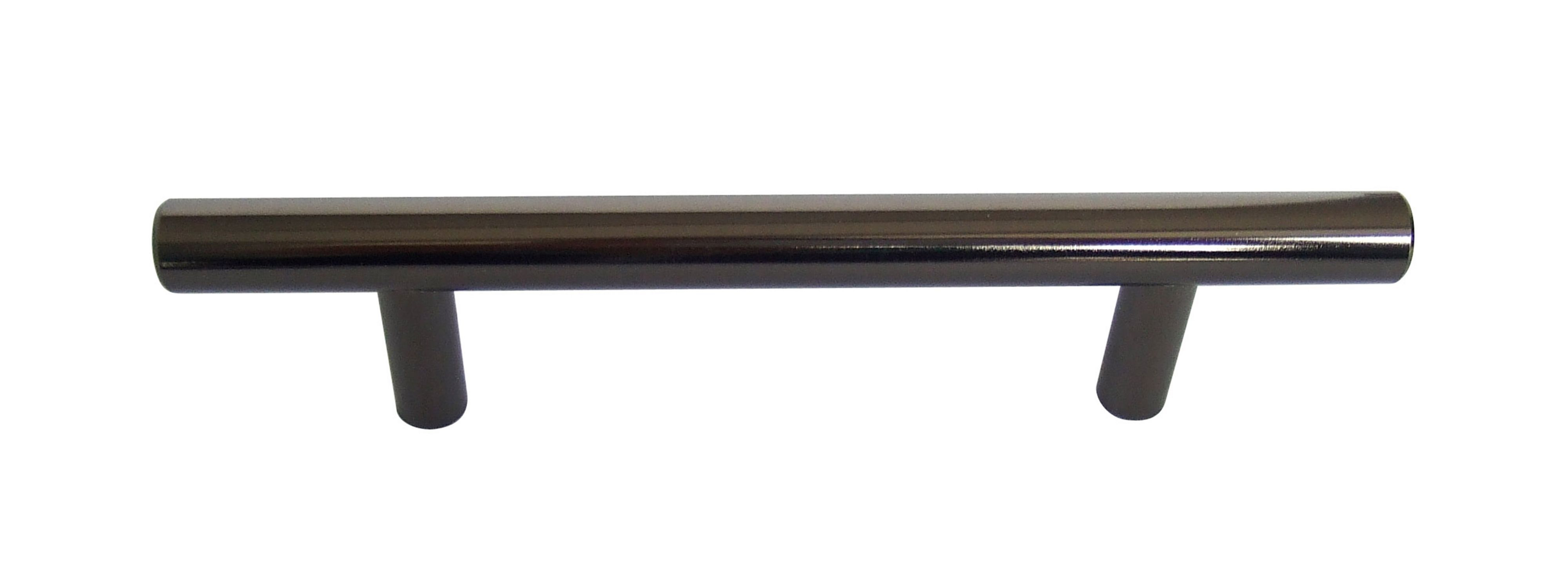 B Q Black Nickel Straight Interior Door Pull Cabinet Handle