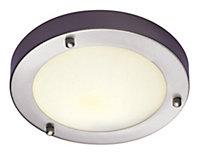 Trinity Satin chrome effect Ceiling light