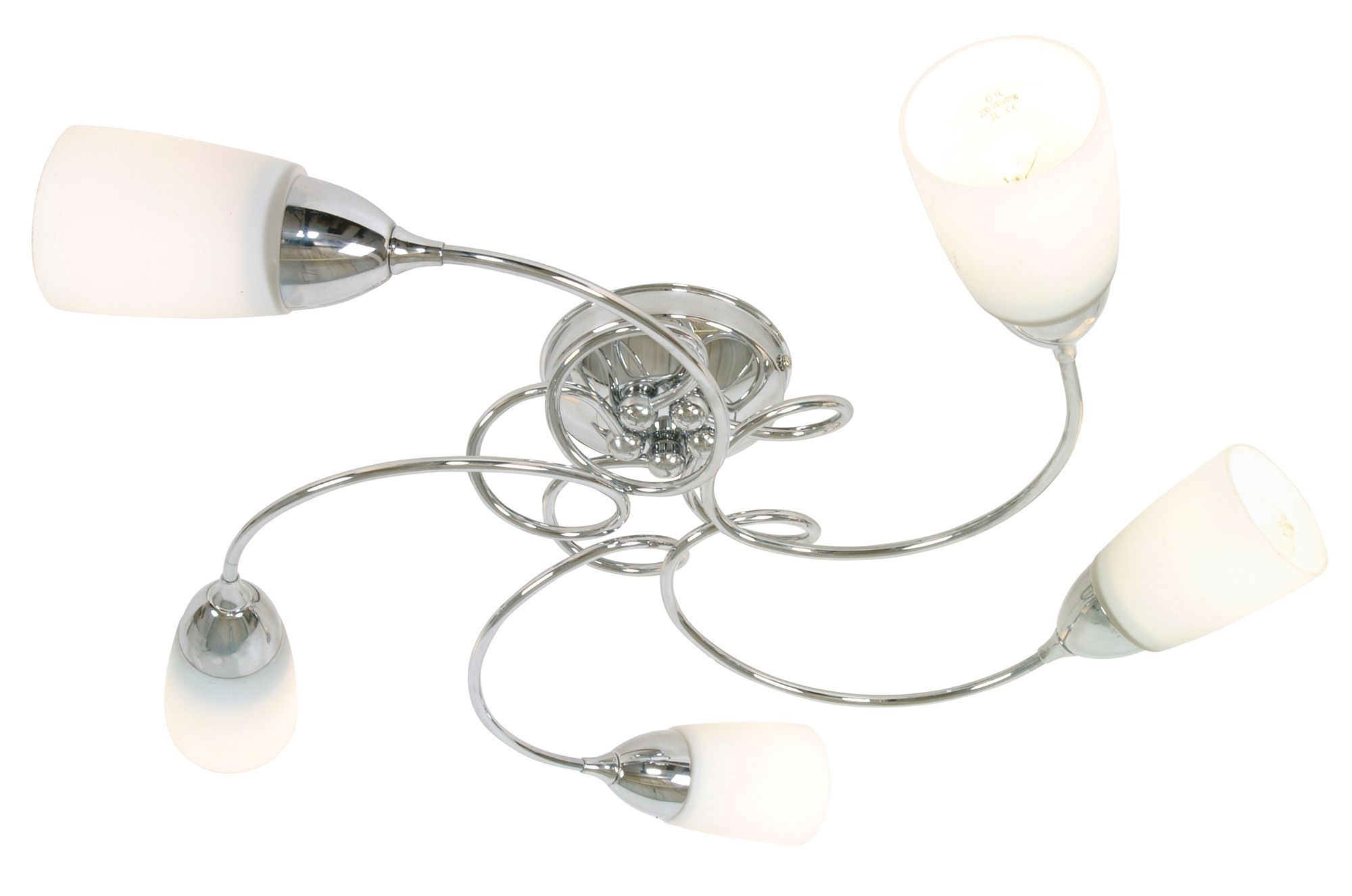 Vortex chrome effect 5 lamp ceiling light departments diy at bq aloadofball Image collections